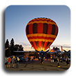AirFest image of hot air balloon at sunset