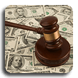 Change Your Support Amount gavel on pile of money