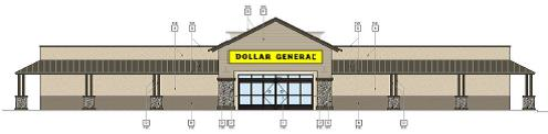Dollar General Elevation Rendering