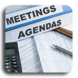 Review the latest meetings and a.gendas
