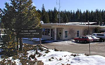 Sheriff Truckee Office during winter - snow on the ground