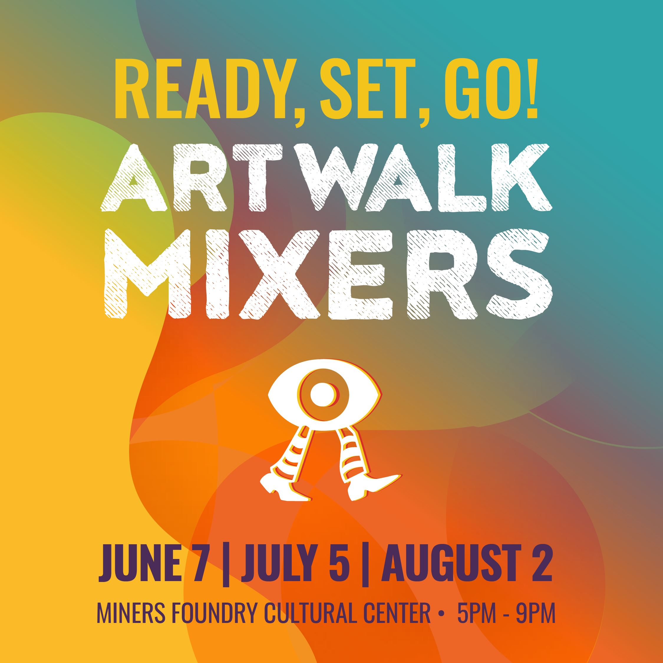 Nevada City First Friday Art Walk Mixer Graphic
