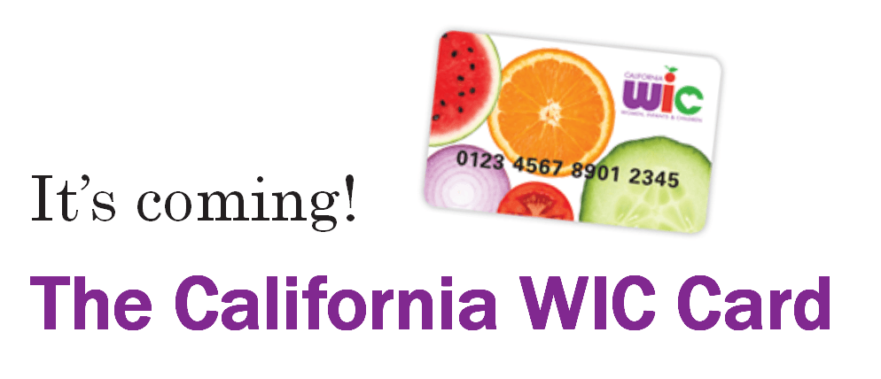 The WIC card it's coming !