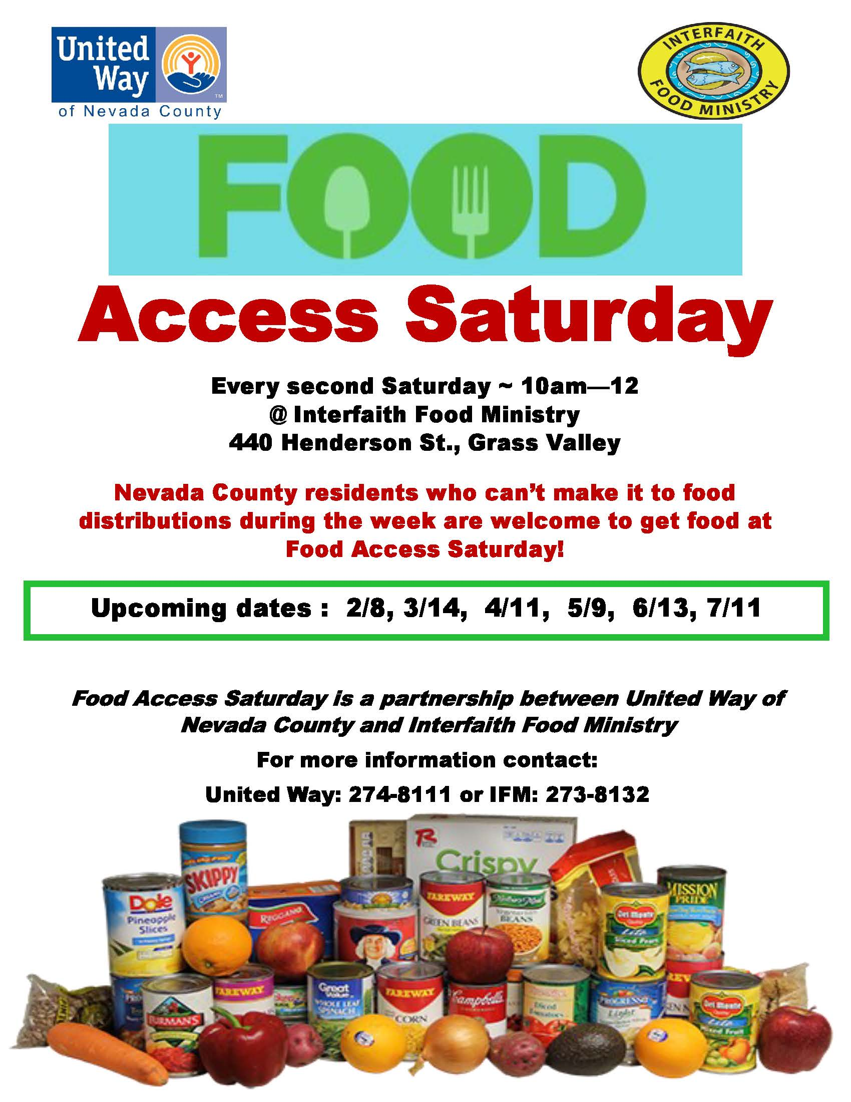 Food Access Saturday flyer