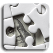Image of puzzle with one piece undone revealing Benjamin Franklins face from dollar bill