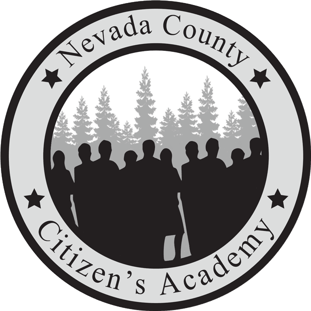 Citizens Academy logo in black and white